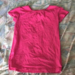 💛Girl's Solid Pink T-Shirt